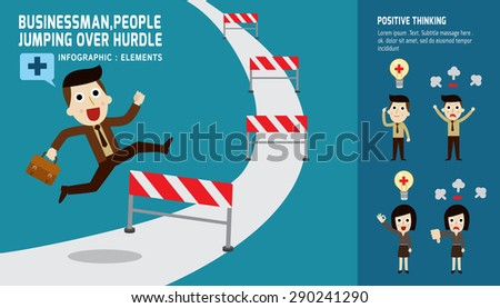 businessman jumping over