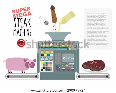 super mega steak machine