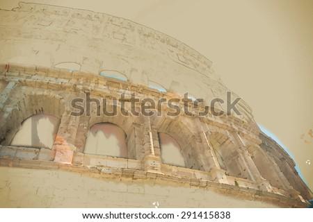 colosseum  coliseum  in rome