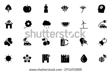 nature and ecology vector icons