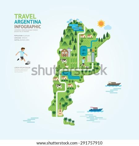 infographic travel and landmark