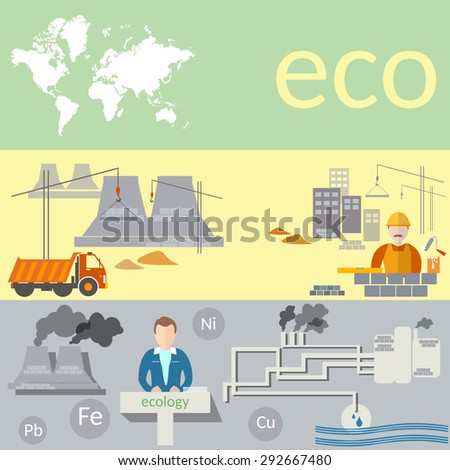 ecological concept  pollution