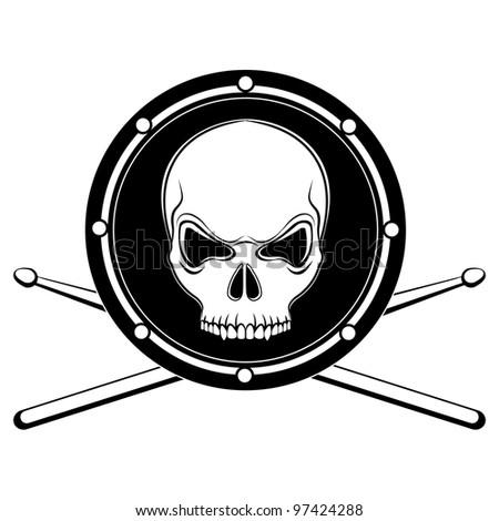 Drum Drumstick Clipart Drum Skull With Drumsticks