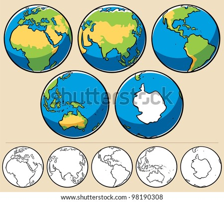 earth  cartoon illustration of