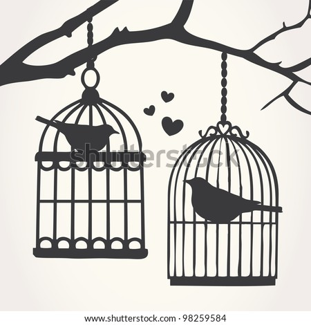 bird cage silhouettes