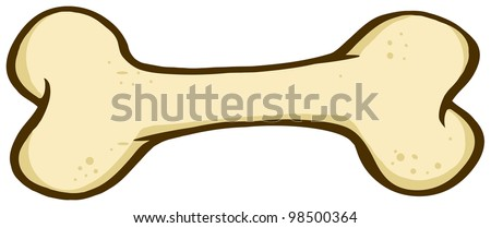 cartoon dog bone vector