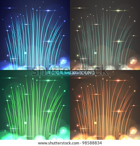 abstract vector light