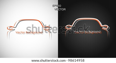 two backgrounds with car front