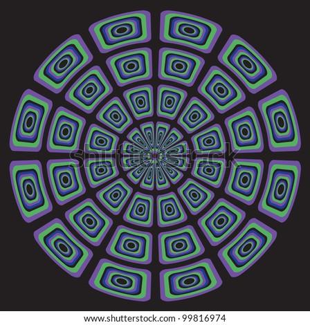 circular psychedelic seventies