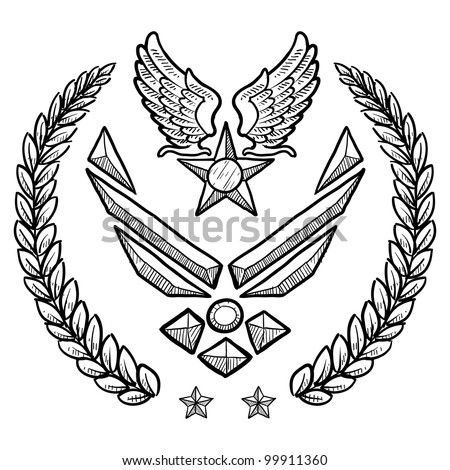 doodle style military rank