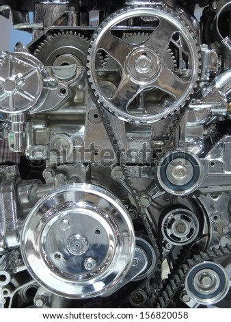A car engine    - stock photo