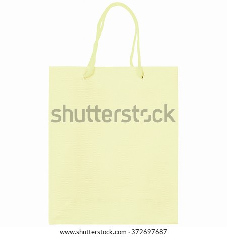 A carrier or shopping bag for goods - isolated over white background vintage