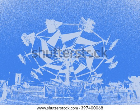 A flying ride - abstract art                              - stock photo
