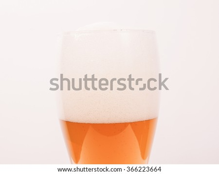 A glass of German weiss weizen beer vintage