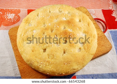 002 - A homemade cake leavened baked - stock photo