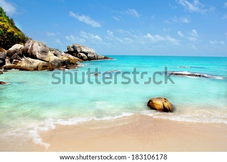 a idyllic tropical beach  - stock photo