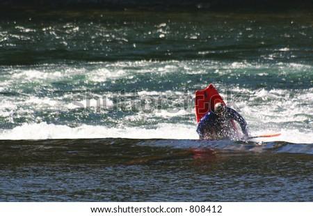 a kayak - stock photo
