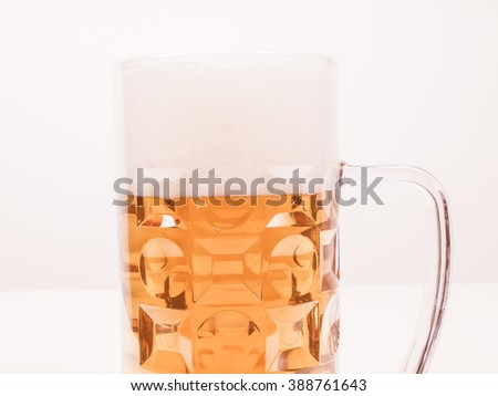 A large glass of German lager beer vintage
