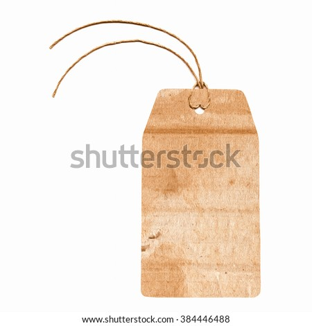 A paper tag or label or sticker vintage - stock photo