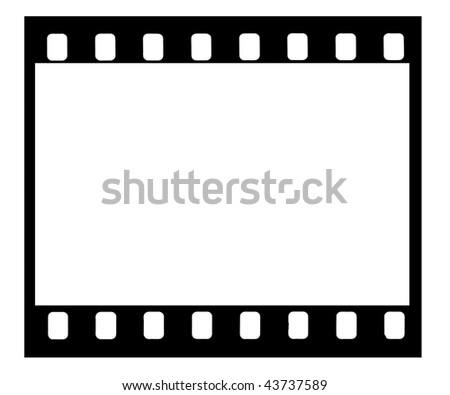 A picture of used frame of 35mm film with clipping paths - stock photo
