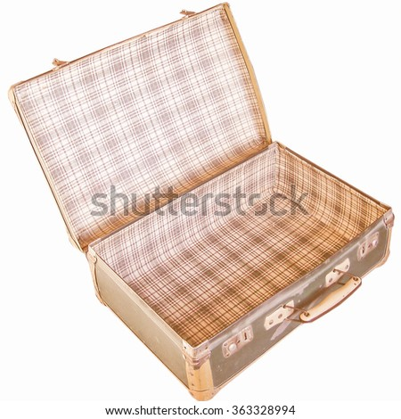 A Suitcase isolated over a white background vintage