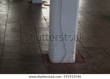 Abandoned Dirty Floor Tiles Pillars Stock Photo 100 Legal