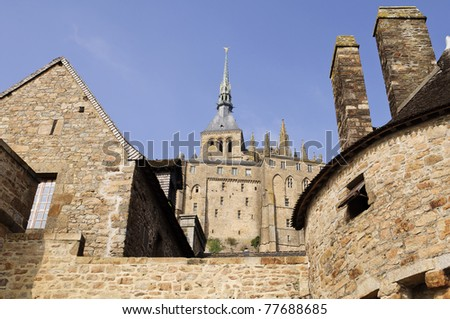 abbey Mont  St. Michel in france