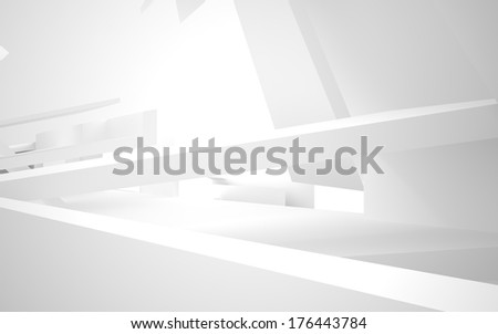 Abstract Architecture. abstract white building on a white backgr - stock photo