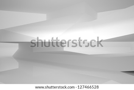Abstract Architecture.Concept of a modern building - stock photo