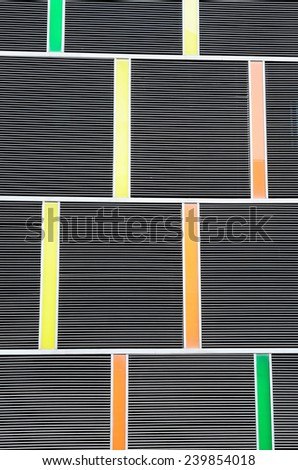 Abstract background of exterior building (Shielded from the sun)  /Abstract background of exterior building - stock photo