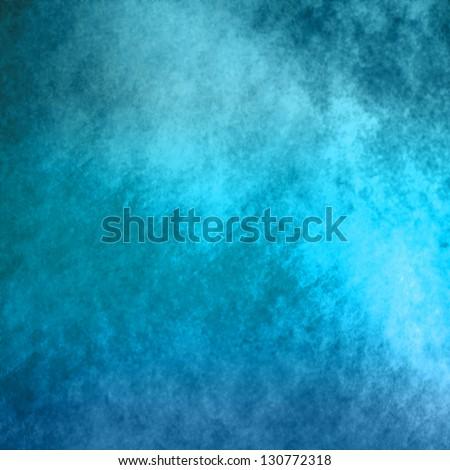 abstract blue background of elegant dark blue vintage grunge background texture black on border with light center blank for luxury brochure invitation - stock photo