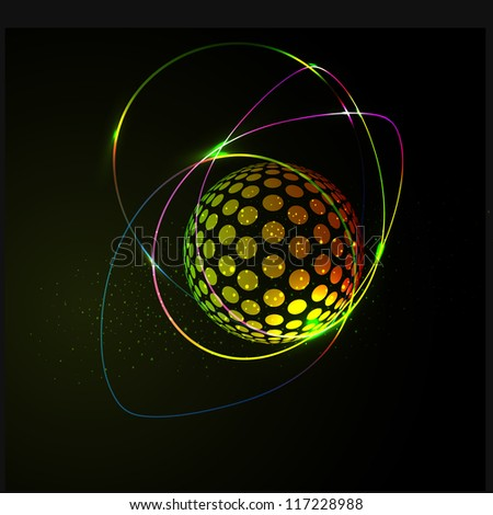 abstract business background, with a sphere - stock photo
