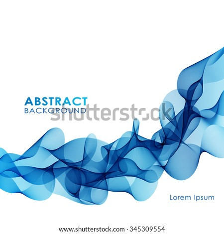 Abstract colorful background with blue wave