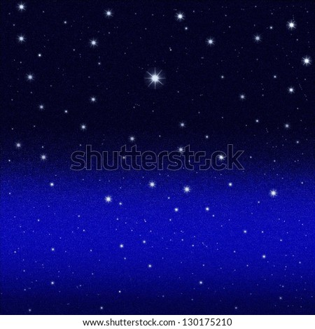 Abstract dark night starry sky