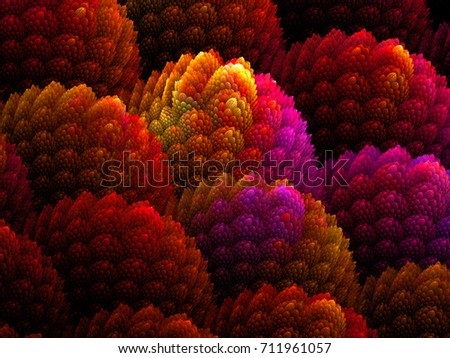 Abstract Fluffy Computer Generated Background - Fractal Art