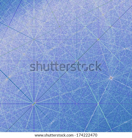 Abstract Geometric Network in blue  - stock photo