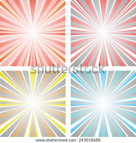 abstract illustration sunset - stock photo