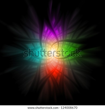 Abstract Multi Color Background CG - stock photo