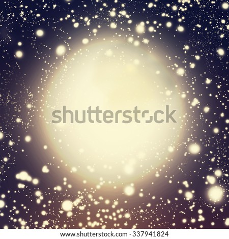 Abstract  night cosmic background with Defocused Bokeh twinkling lights - stock photo