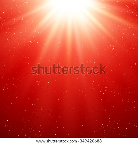 Abstract red magic light background - stock photo