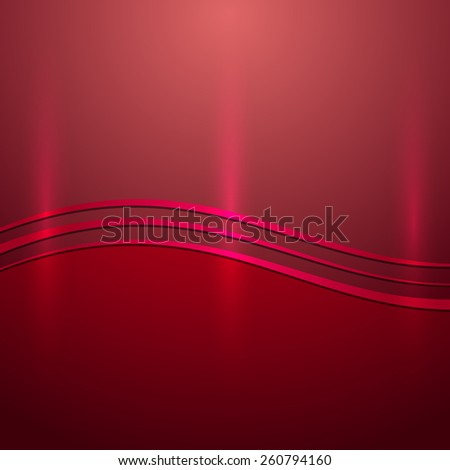 abstract shiny cherry red metallic background with wave - stock photo