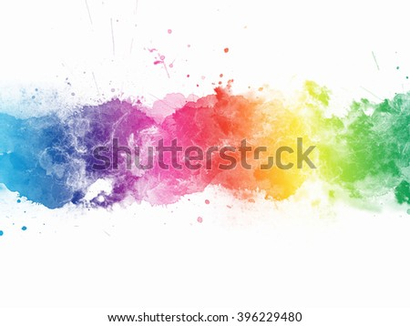 Abstract stain watercolors.colors wet on dry paper  - stock photo