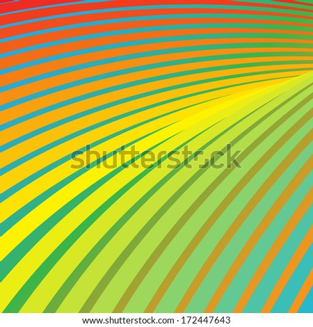 abstract template background with rainbow lines