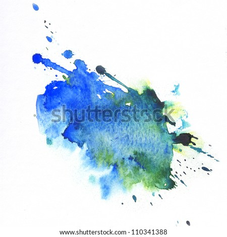 \Abstract watercolor hand painted backgrounds - stock photo