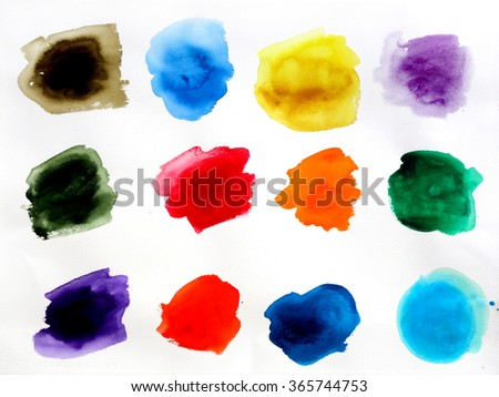 abstract watercolor wash collection background design