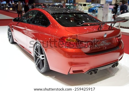 2015 AC Schnitzer BMW M4 (F82) presented the 85th International Geneva Motor Show on March 3, 2015 in Palexpo, Geneva, Switzerland