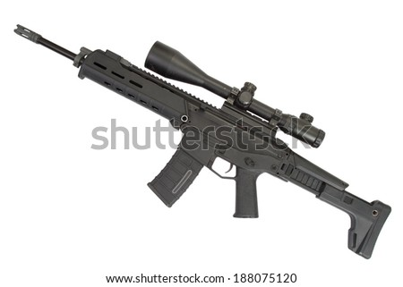 Adaptive Combat Weapon System isolated - stock photo
