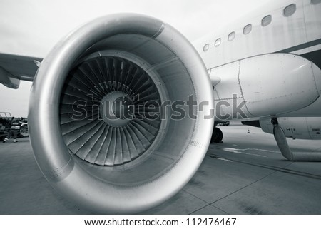 Aircraft fuselage and engine