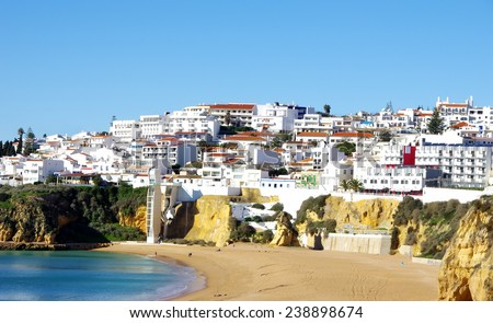 Albufeira,Algarve region, Portugal  - stock photo