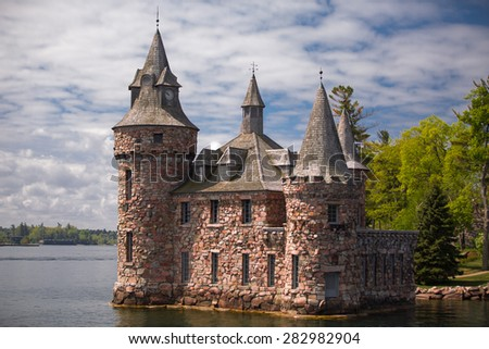 Alexandria Bay, NY May 17, 2015 gorgeous amazing view of  Boldt Castle, located on heart island in lake